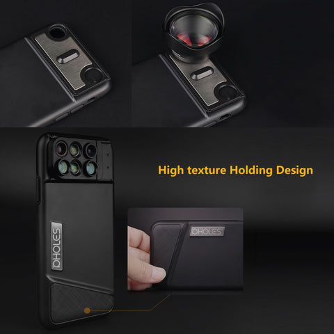 6-in-1 Camera Lens Phone Case iPhone X