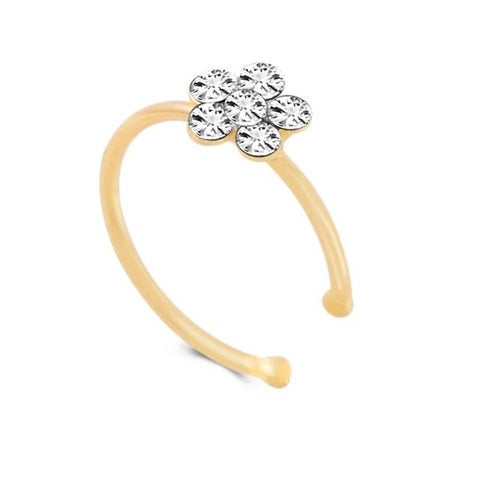 Flower Nose Stud Clip Rings Body
