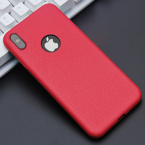 Ultra Thin Leather Skin Phone Cases for iPhone