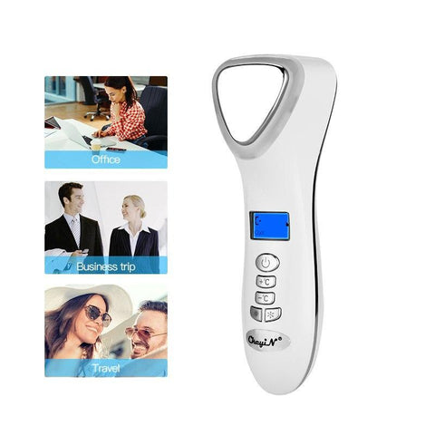 Ultrasonic Cryotherapy Hot and Cold Facial Massager