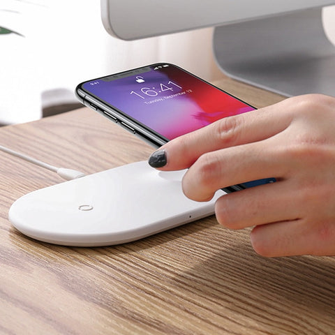 2 in 1 Qi Wireless Charger for iPhone and Apple Watch