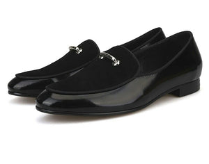 Men Black Leather Loafers