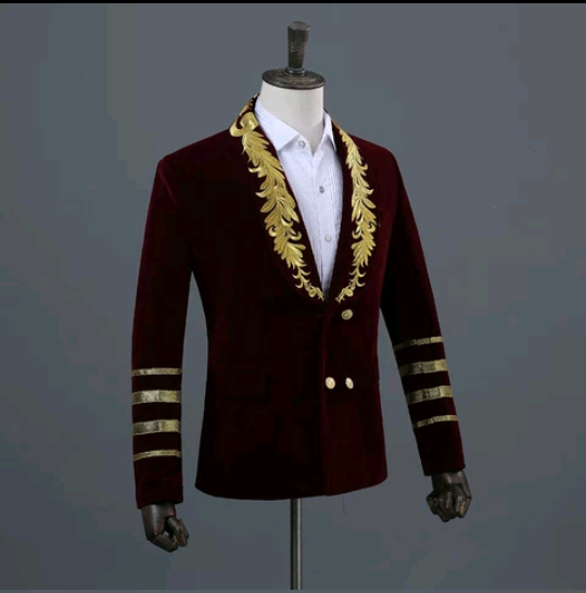 Men's burgundy Blazer