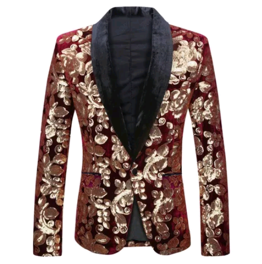 Men's Wine Red Blazer
