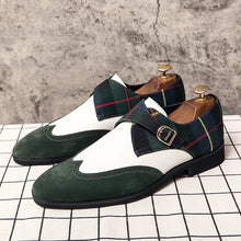 Men Leather Dark Green Loafers