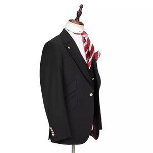 Men's 3 Piece Slim Fit Black Suit