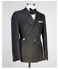 Men's Black Gold DOUBLE BREASTED SUIT