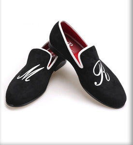 Men custom personal letters embroidered Loafers