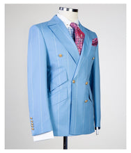 Men's Carolina Blue DOUBLE BREASTED SUIT
