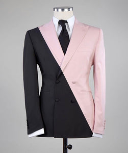 Men's Black Pink 2 Piece Suit