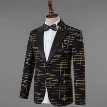 Men's Yellow Black Lapel Tuxedo
