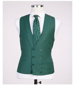 Men's Green Business 3pc Suit