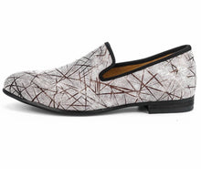 Men Handmade Print Loafers