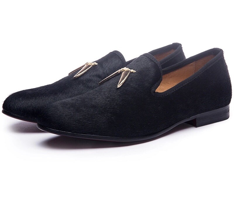 Men Gold metal Tassel Loafers
