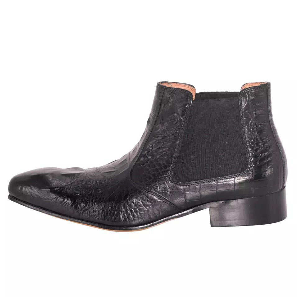 Men's Black Chelsea Leather Boots