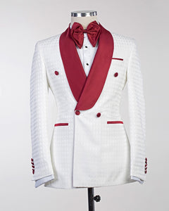 Men Red Lapel Tuxedo + Pants