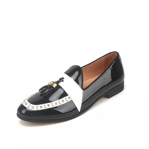 Men's Black Leather loafers