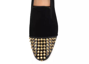 Men's gold spikes Loafers
