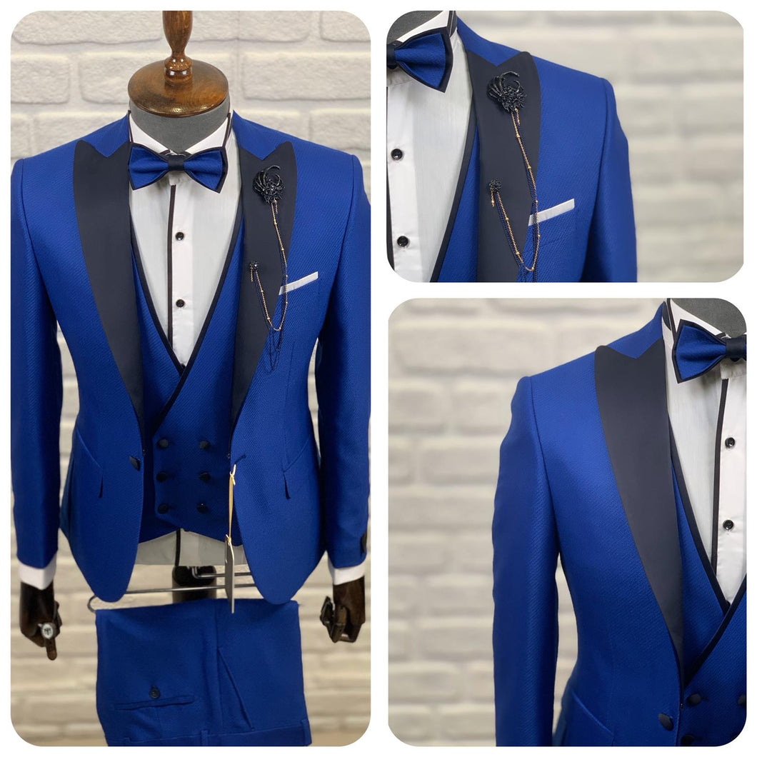 Men's Dark Blue 3 Piece Tuxedo