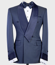 Men's Navy Blue Tuxedo + Pants