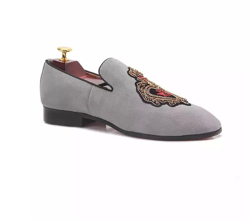 Men's Leather gray Loafers