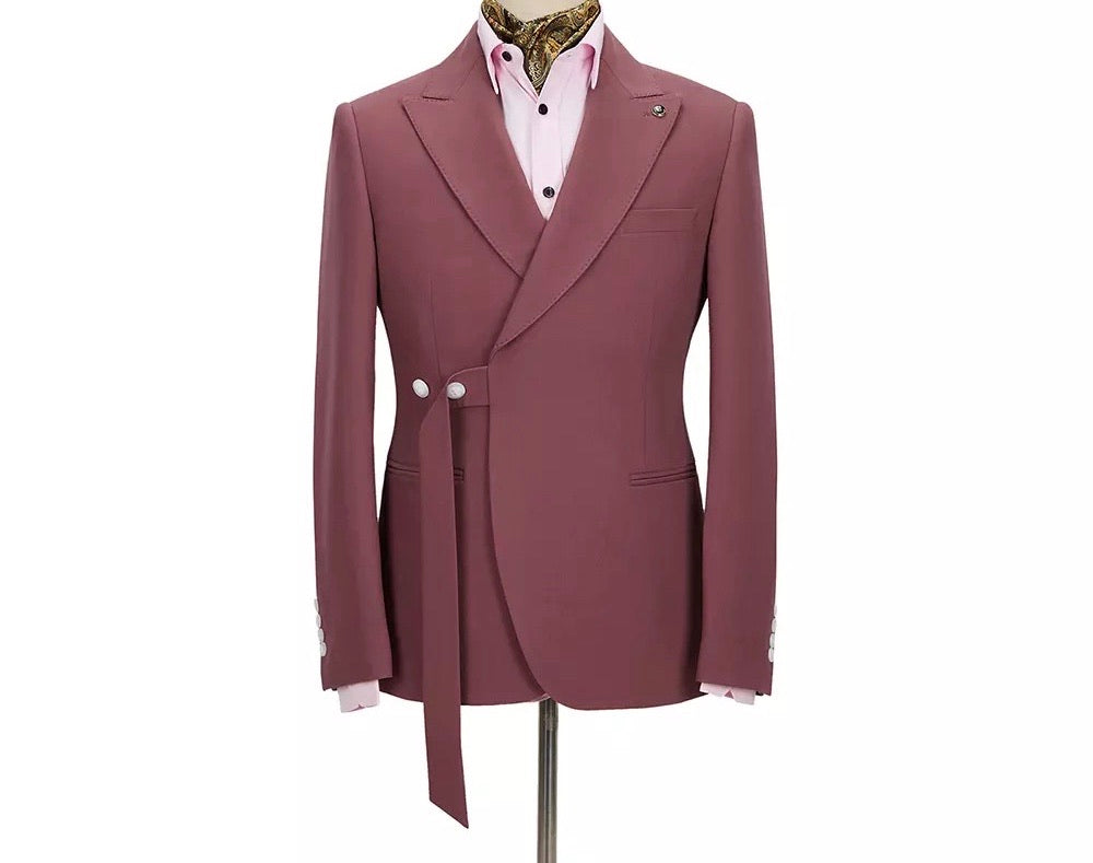 Men's Two Red Pieces Slim Suit