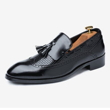 Men's Classic Black Leather Loafers