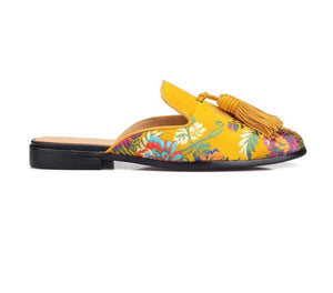 Men Gold Silk Tassels Slip-On