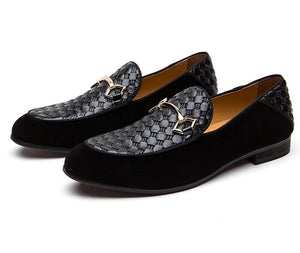Men Black Velvet Loafers