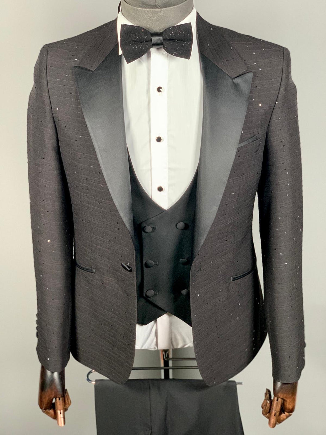 Men's Black 3pc Tuxedo