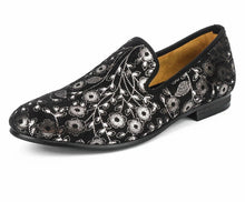 Men fabric print Loafers
