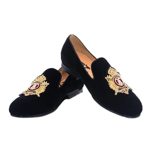 Men's Slip-On Embroidered Loafers