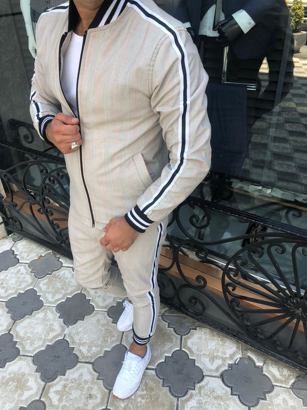 Men's Nude Jacket and Pants Set