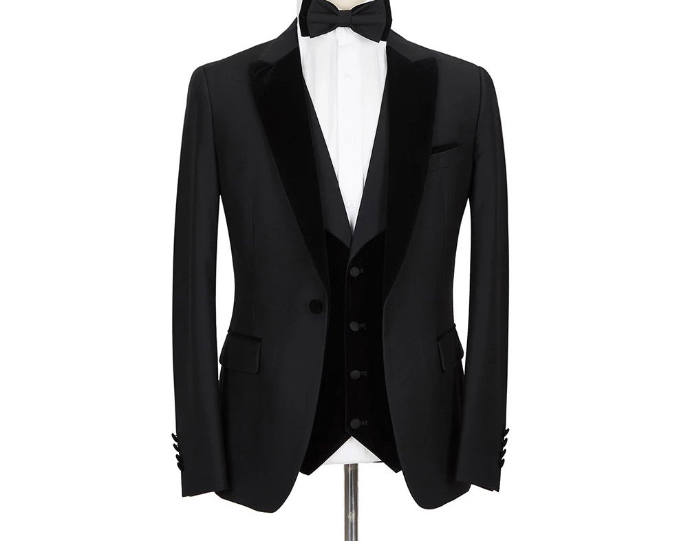 Men's 3Pc Black Tuxedo