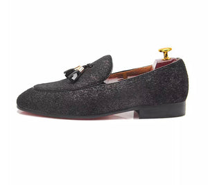 Men's Shinny Black Loafers