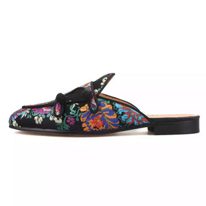 Men's flower silk Slippers