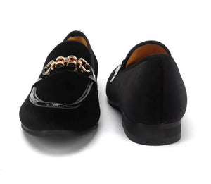 Men's Velvet Buckle Loafers