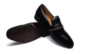 Men Leather Buckle Loafers