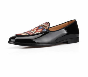 Men Canvas Print Loafers