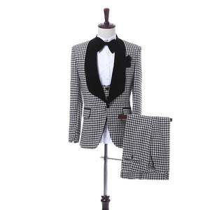 Men Tuxedos Gray Print + Pants