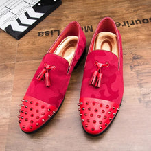 Men's Red Rivet Loafers