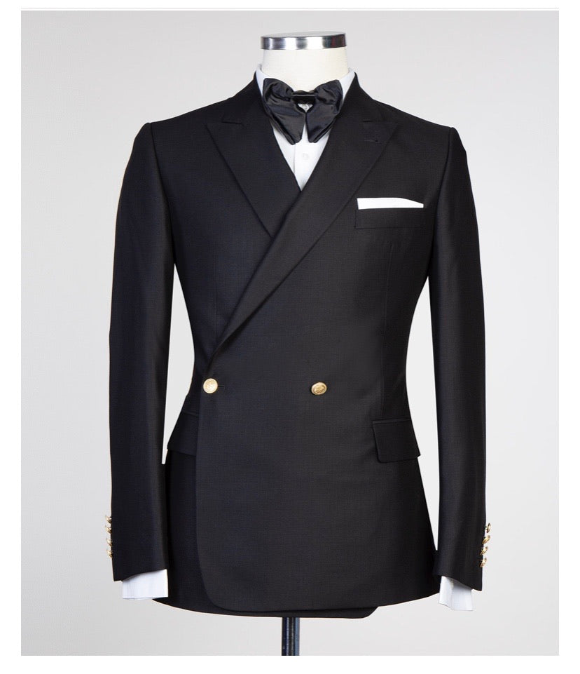 Men's Black DOUBLE BREASTED SUIT