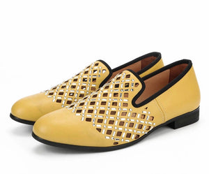 Men's Casual Yellow Dress Loafers