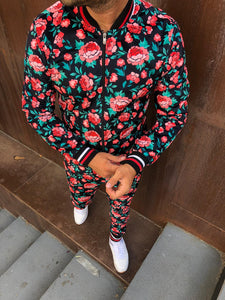 Men's Floral Jacket and pants set
