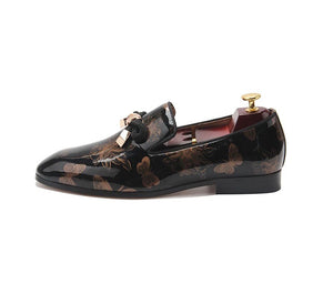 Men's Leather butterfly Tassel Loafers