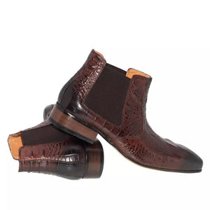 Men's Brown Chelsea Leather Boots