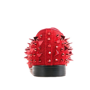 Men Red spikes Loafers Shoes