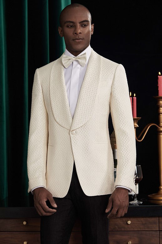 Men Cream Tuxedo + Pants