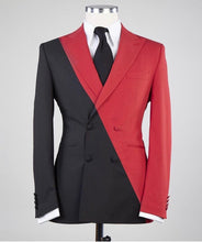 Men's Black Red 2 Piece Suit
