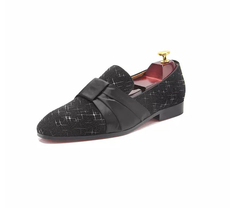 Men's Leather Black Loafers